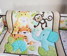 Baby Bedding Crib Cot Quilt Set- 8pcs Quilt Bumper Sheet Dust Ruffle P/C