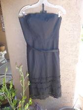 NWT ANN TAYLOR LOFT Women's Black Strapless Dress Size 14 Petite