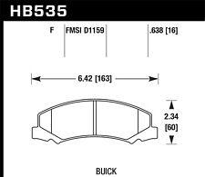 Disc Brake Pad Set-Super Front Hawk Perf HB535F.638