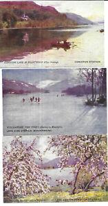 Set of Six Artist Drawn Furness Railway Cards - Tuck Series 2