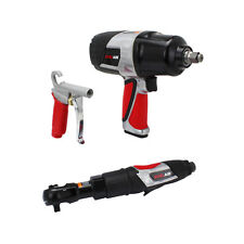 Exelair by Milton 3 Piece Professional Air Tool Kit- Impact Wrench & Air Ratchet