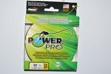 power pro fishing line braid 50lb 300yds hi-vis yellow spool spectra fiber