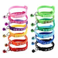 Popetpop 12 pcs/Set Soft Puppy Collars Puppy Whelping Collars with Bells - Adjus
