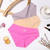 Women's Seamless Soft Ultra Thin Sexy Briefs Hipster Panties Underwear Lingerie