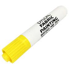 10 x Dylon Tela Pintura Marcador Bolígrafo Amplia Consejo para ropa de tela de color amarillo Nuevo en Caja