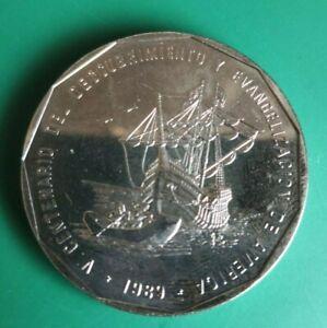 dominican republic 1 peso coin 1989 (824