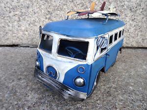 Retro Bull Camper Bus Freizeit Modell Blechauto Deko Kult Retro Geschenk