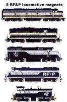 Richmond Fredericksburg & Potomac Locomotives 5 magnet set Andy Fletcher