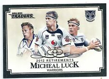 2013 NRL Traders 2012 Retirements (R8/10) Michael LUCK Warriors