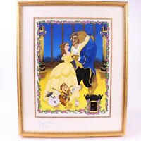 Disney Beauty and the Beast Belle Paige O'Hara Signed Lithograph Film Cel