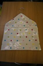 White with primary coloured spots spotty oil cloth oilcloth peg bag shabby chic