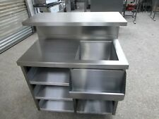 More details for mobile cocktail bar station stainless steel,
