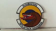 78TH ATTACK SQUADRON BUSHMASTERS PATCH. Creech AFB Nevada 4 x 4 inches