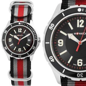 Herrenuhr Armbanduhr Schwarz Rot WBD.14221.NB M-Watch Swiss Made by Mondaine
