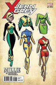 Jean Grey #1 Marvel Comic 2017 Williams Millie The Model 1:10 Variant Cover