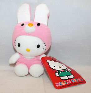 "Sanrio Japan Hello Kitty Plush 16cm 6.25"" Pink Removable Rabbit Bunny Dress (B)"