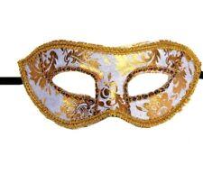 White Gold Venetian plastic mask masquerade ball zoro phantom of the opera UK
