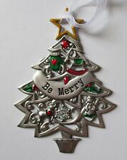 ccd Be Merry ORNAMENT Christmas Wishes Tree Ganz reindeer angel mitten zinc