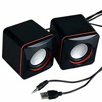 Portable USB Powered Wired Mini Speaker Bass Sound Music Player System Black