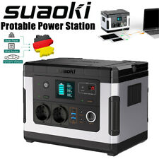 SUAOKI G500 Portable Power Station 500Wh Solargenerator DC/AC/USB/Type-C Camping