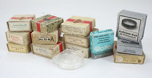 ROLLEI LOT OF MISC FILTER BOXES FOR TLR, VARIOUS SIZES AND CONDITIONS/184483