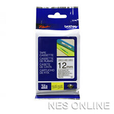 Brother TZe-231 laminated 12mmx 8m Black-On-White Tape TZ231 PT-1010 PT-1090