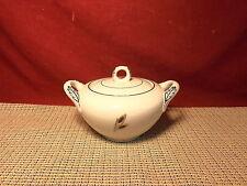 Fukagawa China Silver Wheat 928 Pattern Sugar Dish