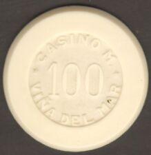 Chile Casino Municipal de Viña del Mar 100 Chip White