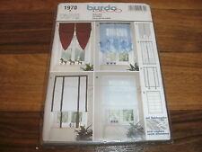 BURDA-DECO Schnittmuster 1970           4x   ROLLOS für schmale Fenster / STORES