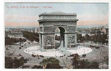 Arc de Triomphe Paris France 1910s postcard