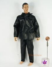 DA182 Action Figure 1:6 Model Military Pilot Black Leather Jacket UNIFORM Suit