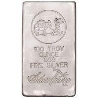 SilverTowne Hand-Poured 100oz .999 Fine Silver Bar