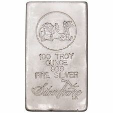 SilverTowne Hand-Poured 100oz .999 Fine Silver Bar