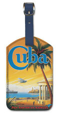 Leatherette Travel Luggage Tag Baggage Label - Cuba by Kerne Erickson