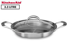 KITCHENAID 5-PLY COPPER CORE 3.5-QUART BRAISER PAN WITH LID  - SILVER