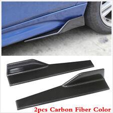 2X Car Side Skirt Rocker Splitters Decor Anti-scratch Winglet Carbon Fiber Style