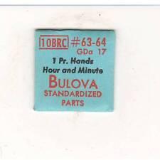 NOS GENUINE BULOVA WATCH PART 1 Pr. Hands Hour & Minute GDa17 FOR 10BRC MOVEMENT