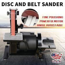 300W Workshop Bench Combination Belt Disc Top Power Sander Sanding Machine