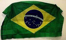 4 x Brand New Brazilain Flags 5ft x 3ft