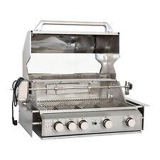 Gasgrill Einbau Grill Outdoor Küche Drehspieß 4 Hauptbrenner Infrarot Backburner