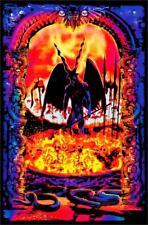 GATES OF HELL - BLACKLIGHT POSTER - 24X36 FLOCKED DEVIL 1981