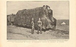 1900 ANTIQUE PRINT - BOER WAR- IN NATAL-AN INGENIOUS DEVICE TO PROTECT AN ENGINE