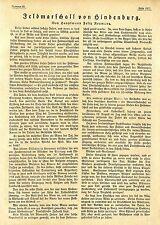Hptm. Felix Neumann Feldmarschall von Hindenburg Text-& 13 Bilddokumente von1917