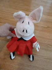 """OLIVIA THE PIG PLUSH TOY BY GUND 14"""" TALL WEARING SAILOR DRESS  NEW W/TAG"""