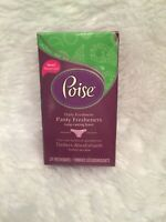 Poise Panty Fresheners 1 Box 24 Count Daily Freshness Hypoallergenic Long Scent