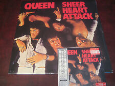 QUEEN SHEER HEART ATTACK 180 GRAM HOLLYWOOD RECORDS 2008 LP & JAPAN REPLICA CD