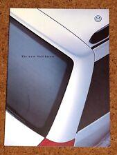 1999 VW Golf MK4 Estate Sales brochure-E, S, se, V5 1.4 1.6 2.0 SDI TDI