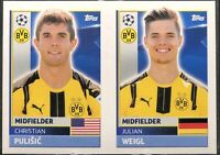 2016-17 Topps UEFA Champions League sticker CHRISTIAN PULISIC rookie RC