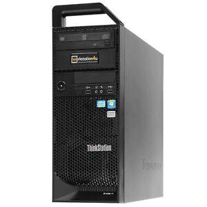Quad Core office Workstation Lenovo S20 W3520 12GB ram 120GB SSD NVS300 Win10Pro