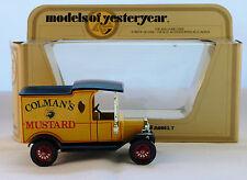 Matchbox Models of Yesteryear, Y12-3 : 1912 Ford Model 'T' Van; Colman's Mustard